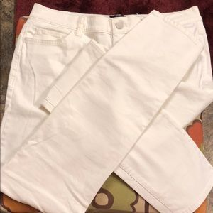 Ann Taylor white pants, slight stretch
